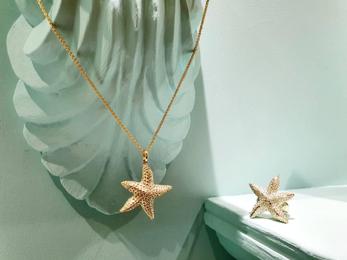"""Anhänger und Ring """"Under the Sea"""" gold, Schmuck Shop Erding"""
